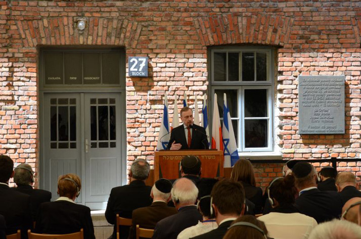 Polish Minister of Culture and National Heritage Bogdan Zdrojewski speaking at the opening ceremony
