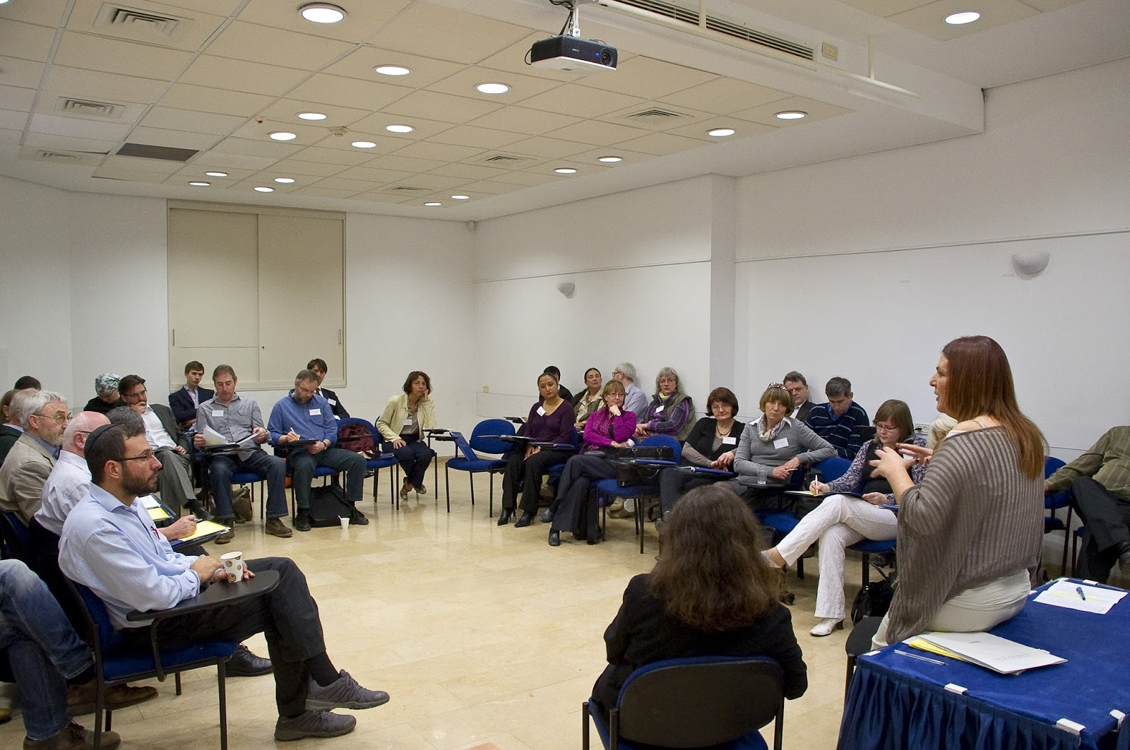 Participants in professional seminars at Yad Vashem's International School for Holocaust Studies