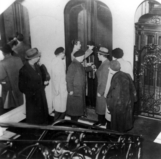 Paris, France, 1941. Confiscation of Jewish property by the French authorities, at the behest of the Vichy regime.