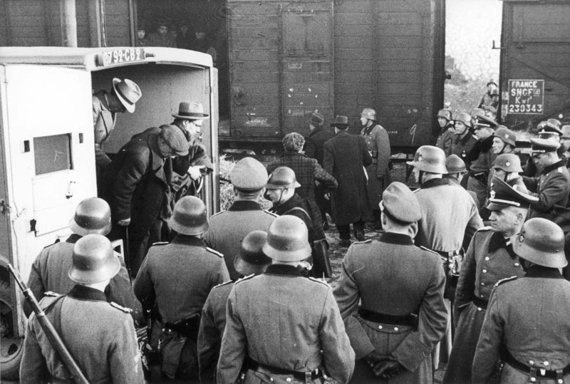 The deportation of Jews from Marseilles and its environs, early morning hours of 24 January 1943; the Gare d`Arenc train station.