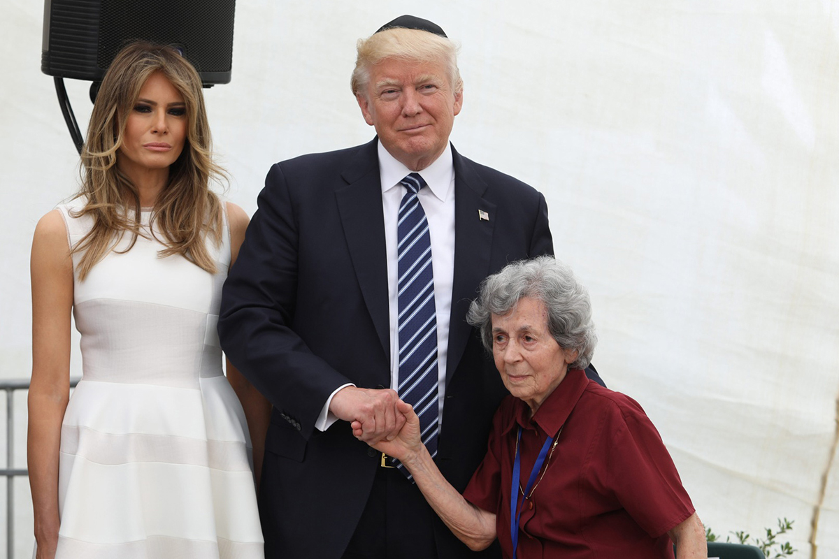 U.S. President Donald J. Trump and First Lady Melania Trump with Margot Herschenbaum