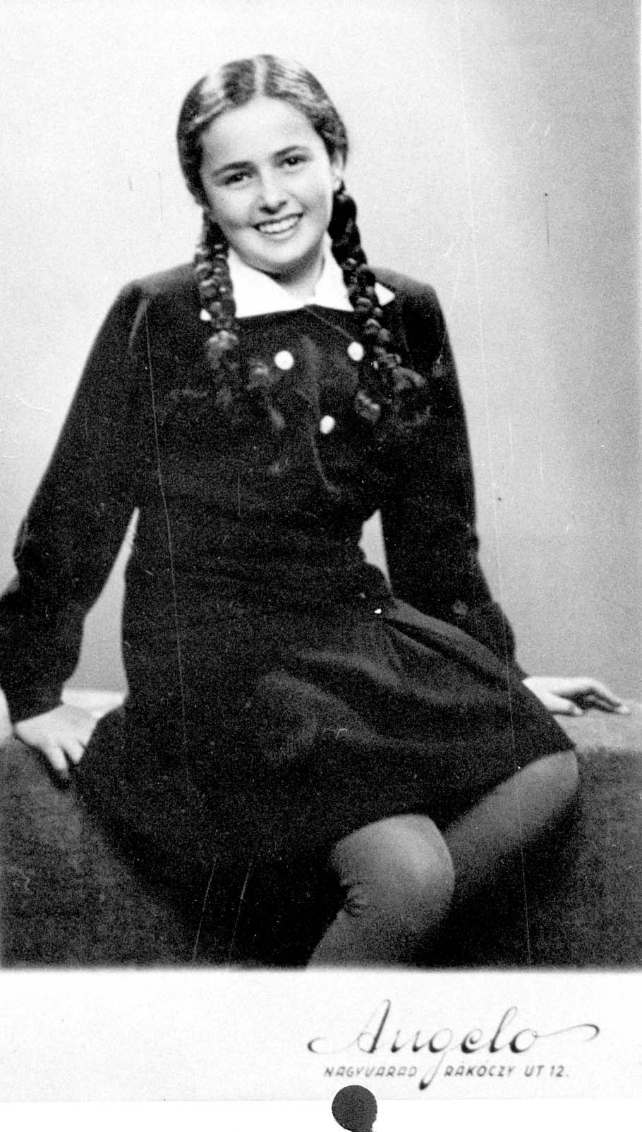 Éva Heyman, aged 13, in Hungary a few months before she was murdered in a gas chamber, 1944