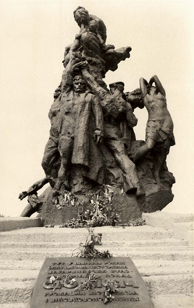 Monument to Soviet citizens and POWs shot by the Nazi occupiers at Babi Yar, opened in July 1976