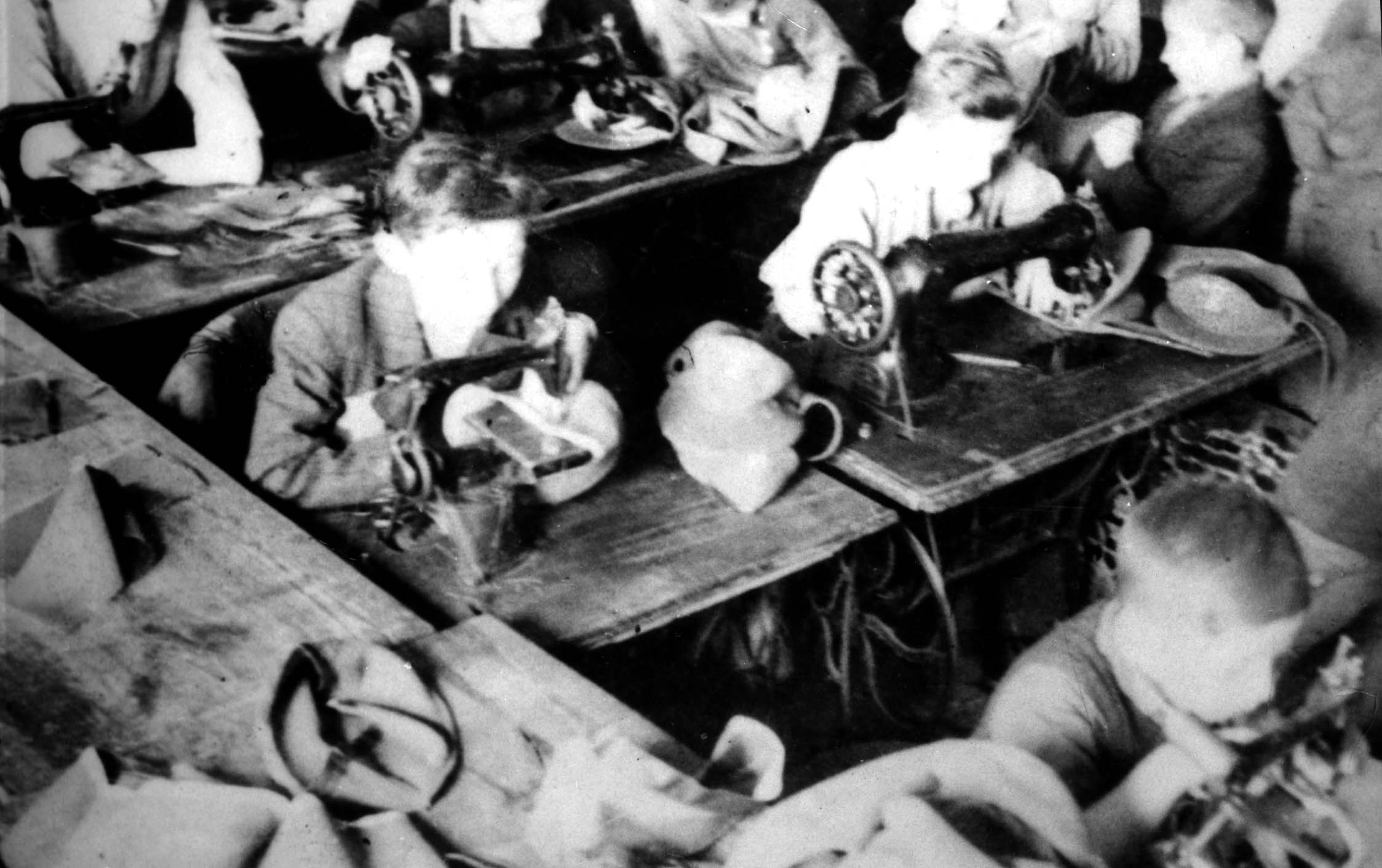 Children's sewing factory in the ghetto