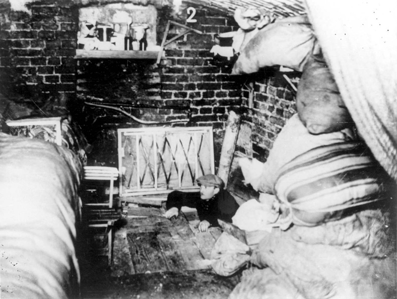 A Jew, caught in a bunker during the uprising