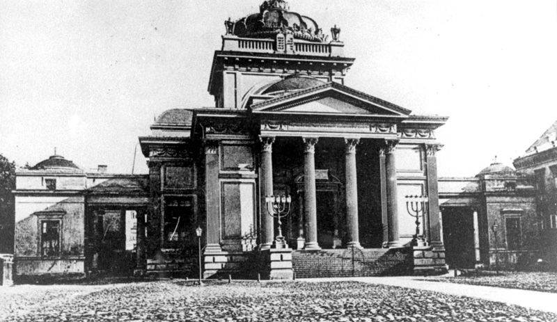 Before the war: the Great Synagogue on Tłomackie Street in Warsaw, built between 1872 and 1878