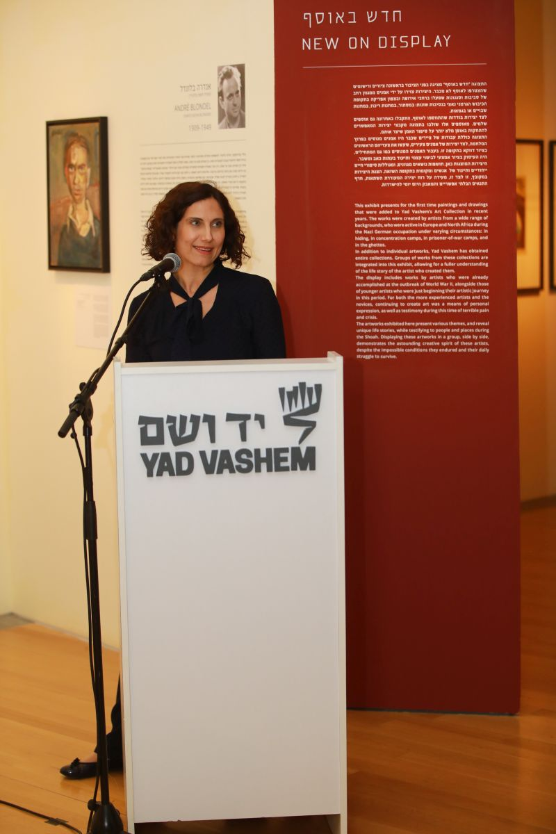 Director of the Art Department and Curator Eliad Moreh Rosenberg speaking at the opening of the exhibition