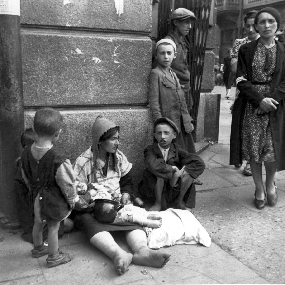 Warsaw, Poland, September 19, 1941, A Woman with a Baby, Begging in the Ghetto