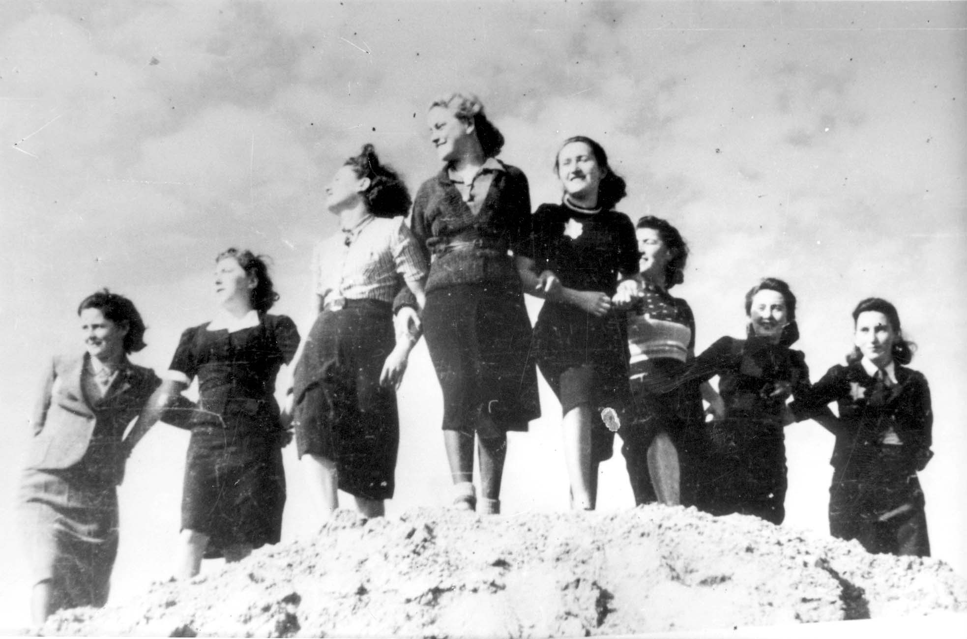 """Lodz, Poland, 1941, Young women from the """"Front of the Wilderness Generation"""" youth group"""