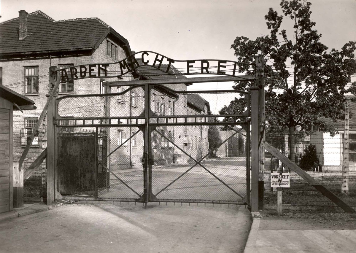 Auschwitz, Poland, The gate, with the sign reading