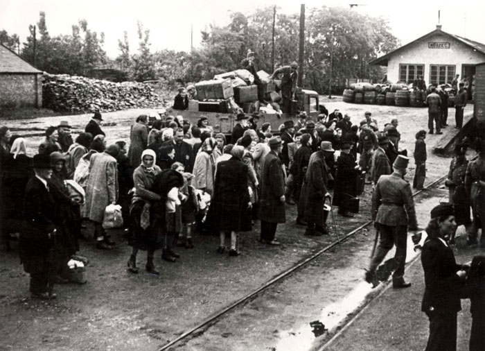 Deportation of Jews from the town Koszeg, Hungary, 1944
