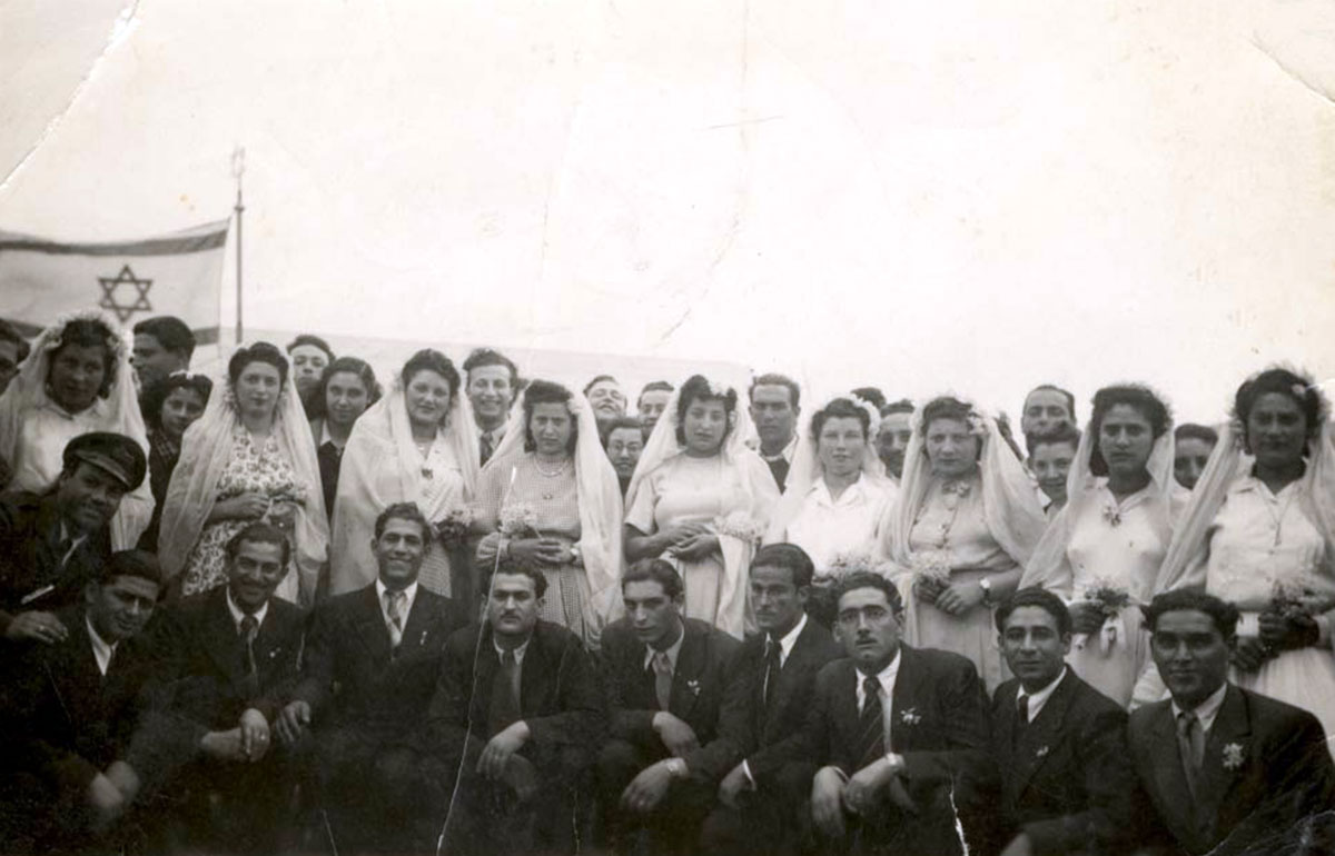 Athens, Greece, Postwar, Wedding of nine couples who survived the Holocaust