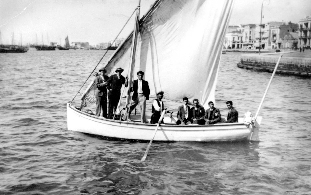 July 1939, Jewish youths from Monastir on a sailboat