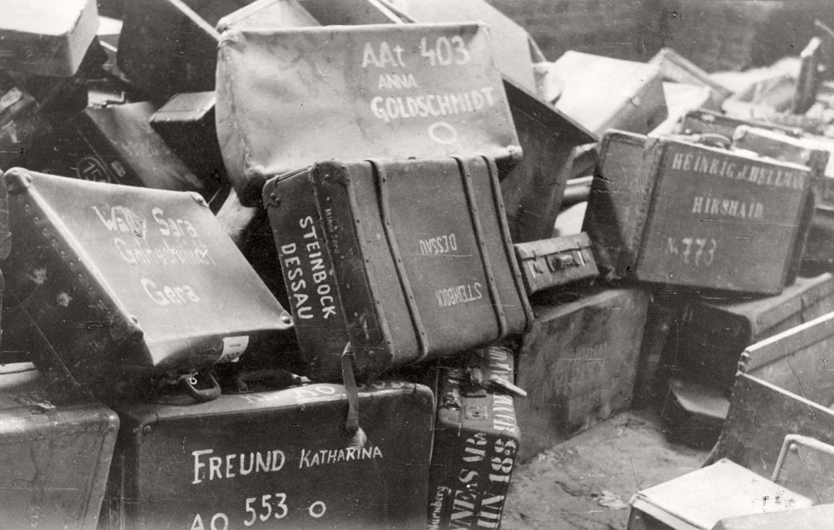 Majdanek, Poland, Suitcases taken from the victims in the camp before they were murdered