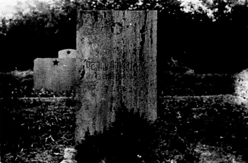 The Grave of Arkadii Chadik in the Alley of Heroes at the military cemetery in Poznań, [1970s?]