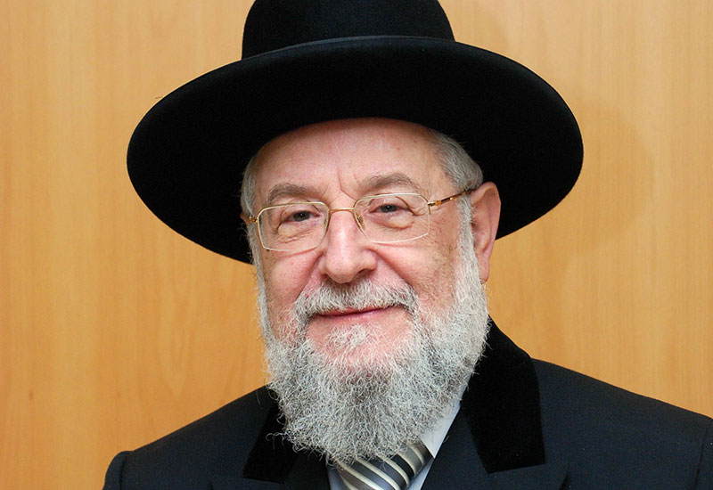 Chairman of the Yad Vashem Council Rabbi Israel Meir Lau