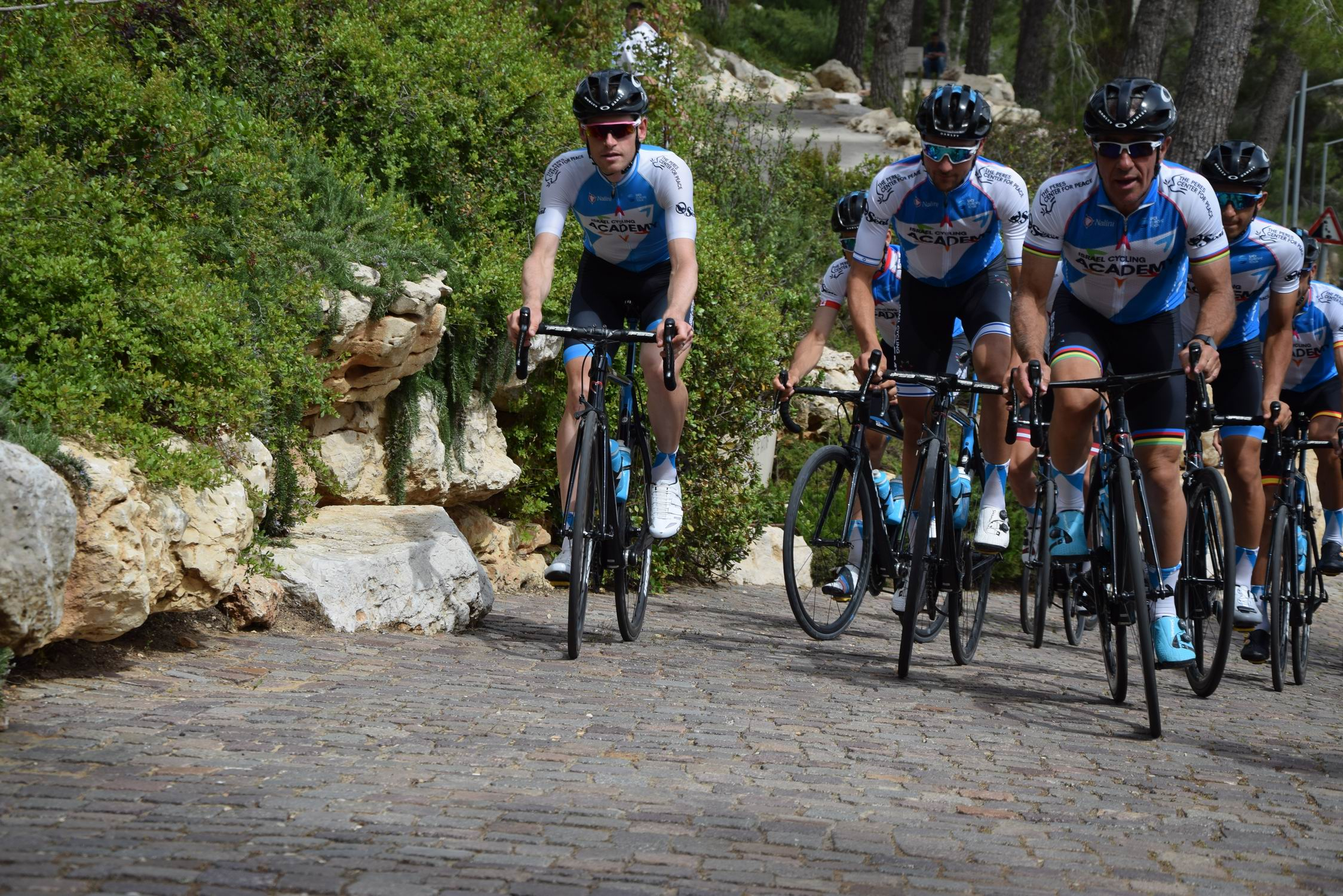 The Israel Academy Cyclists ended their Memorial Ride in Yad Vashem's Garden of the Righteous