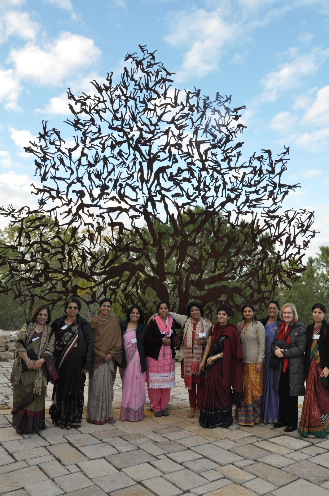 Educators from India at the Partisans' Panorama on the Yad Vashem Campus