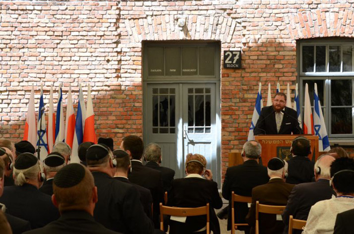 Director of the Auschwitz-Birkenau State Museum Dr. Piotr Cywiński speaking at the opening ceremony