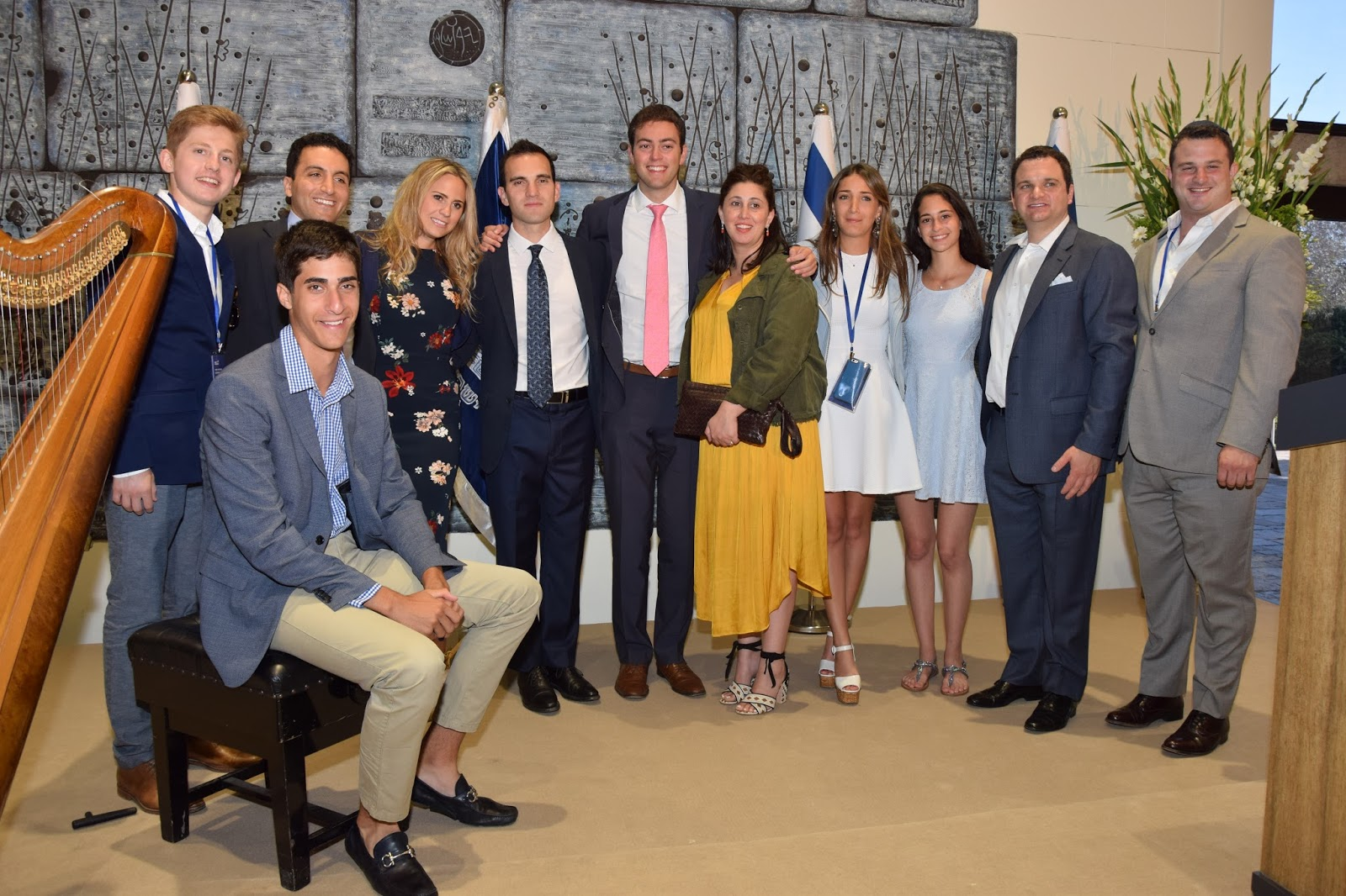 Yad Vashem Leadership Mission participants at a reception held at the President's Residence in Jerusalem. (July 2016)