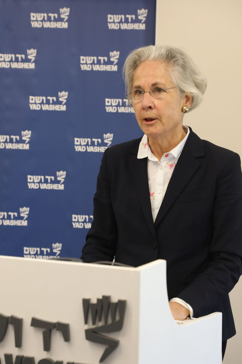 "German Ambassador to Israel H.E. Dr. Susanne Wasum-Rainer: ""To commemorate the persecution of the Jews under the German Nazi regime has become a priority of German governments as well as an overwhelming majority of German society."""