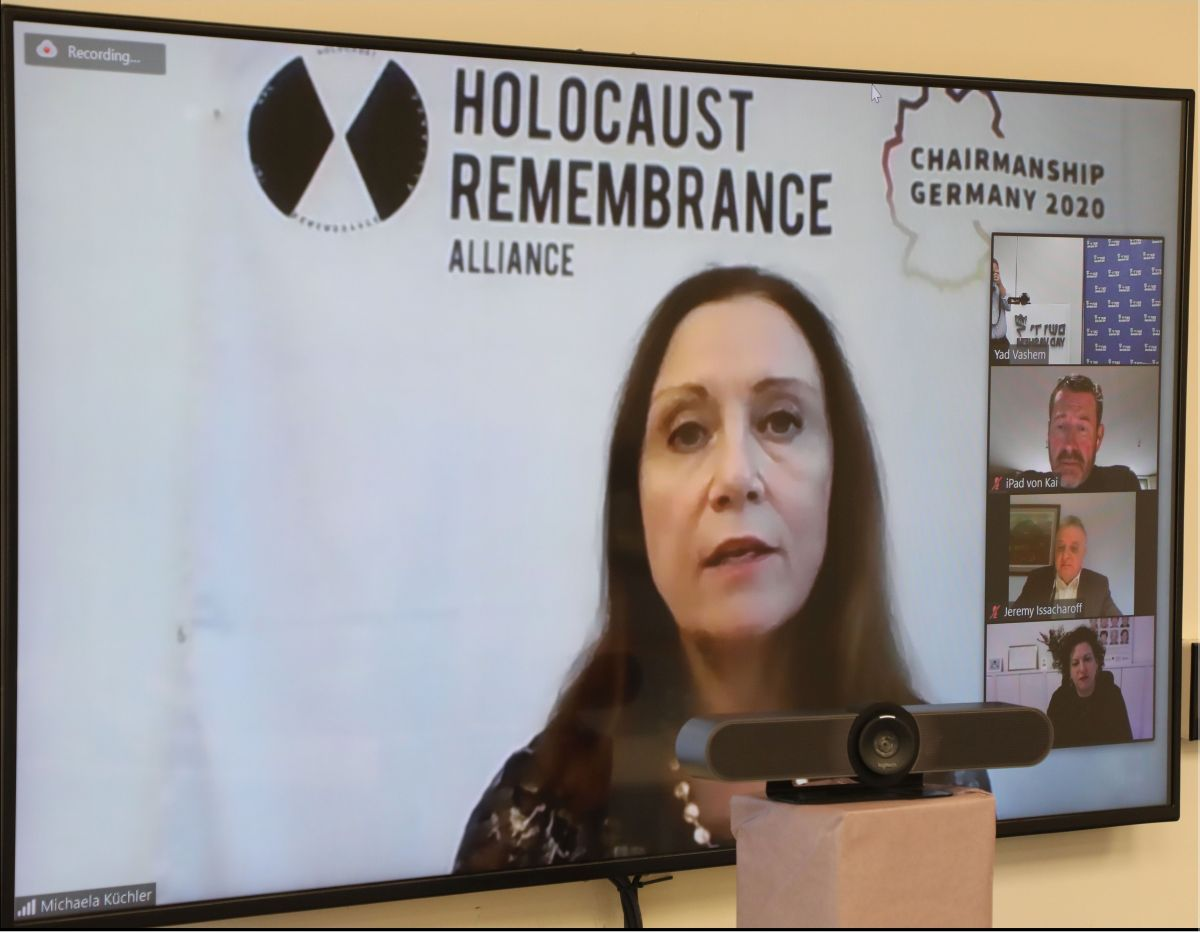 "Ambassador Michaela Küchler, Chairperson of the International Holocaust Remembrance Alliance (IHRA): ""The [Moshal] Shoah Legacy Campus will serve as a shelter for art, artifacts, last letters, diaries... and other testimonies of the lives of Jews [during"