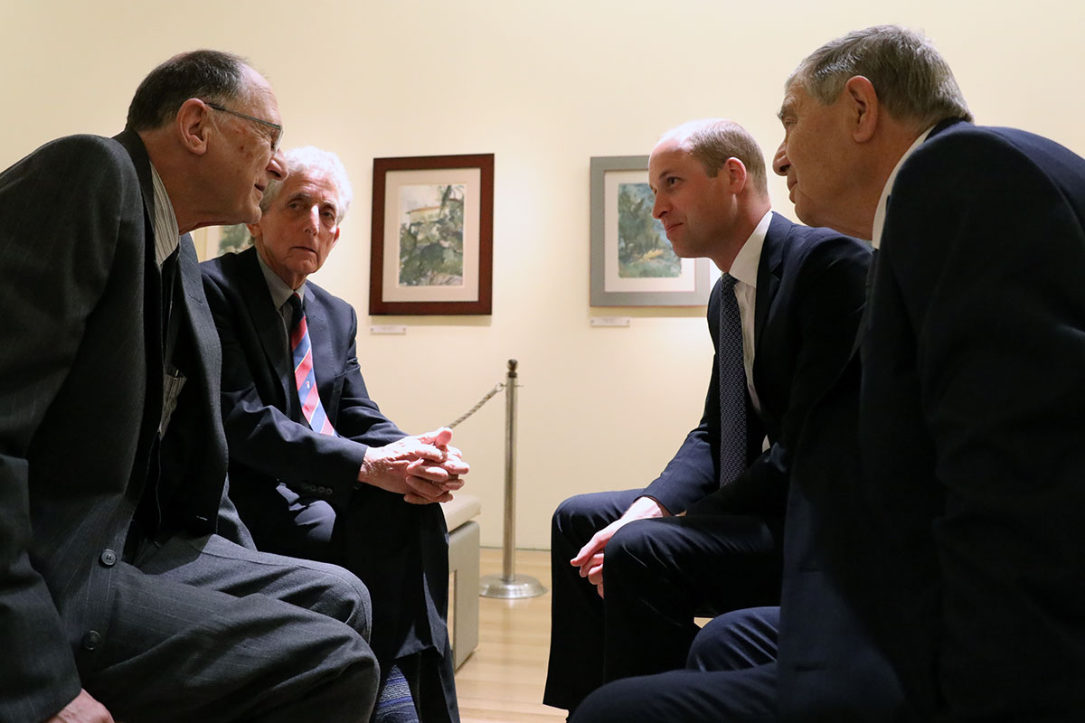 Prince William and Avner Shalev meet with Holocaust survivors, Henry Foner and Paul Alexander