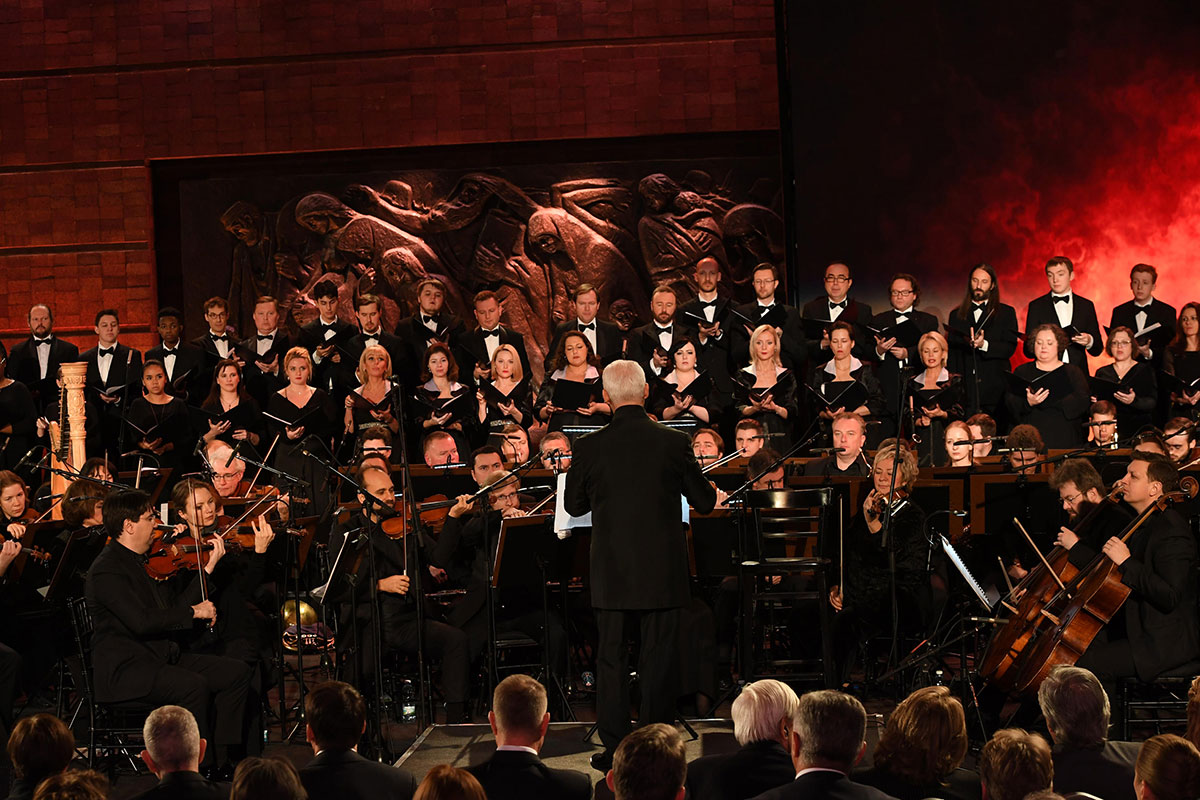 The international philharmonic orchestra performed Requiem at the Fifth World Holocaust Forum together with the members of four choirs – from France, Russia, the United Kingdom and the United states