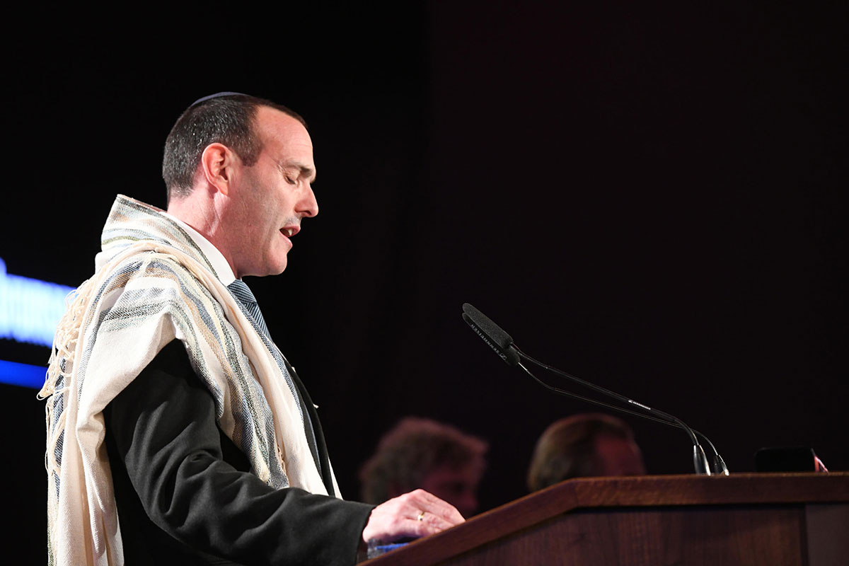 Cantor Shai Abramson recited El Maleh Rahamim, the Prayer for the Martyrs of the Holocaust