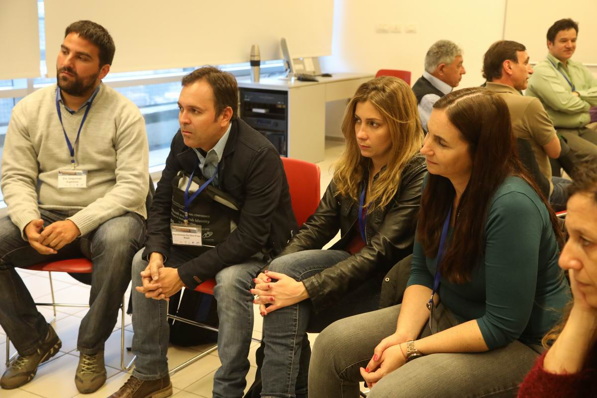 Participants shared challenges and information with Yad Vashem staff and each other