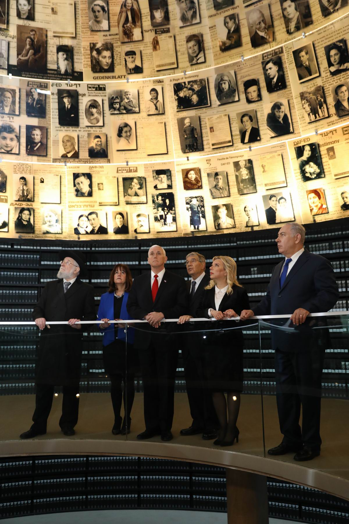 "In the Hall of Names – a ""symbolic tombstone"" to the six million Jewish men, women and children murdered during the Holocaust"