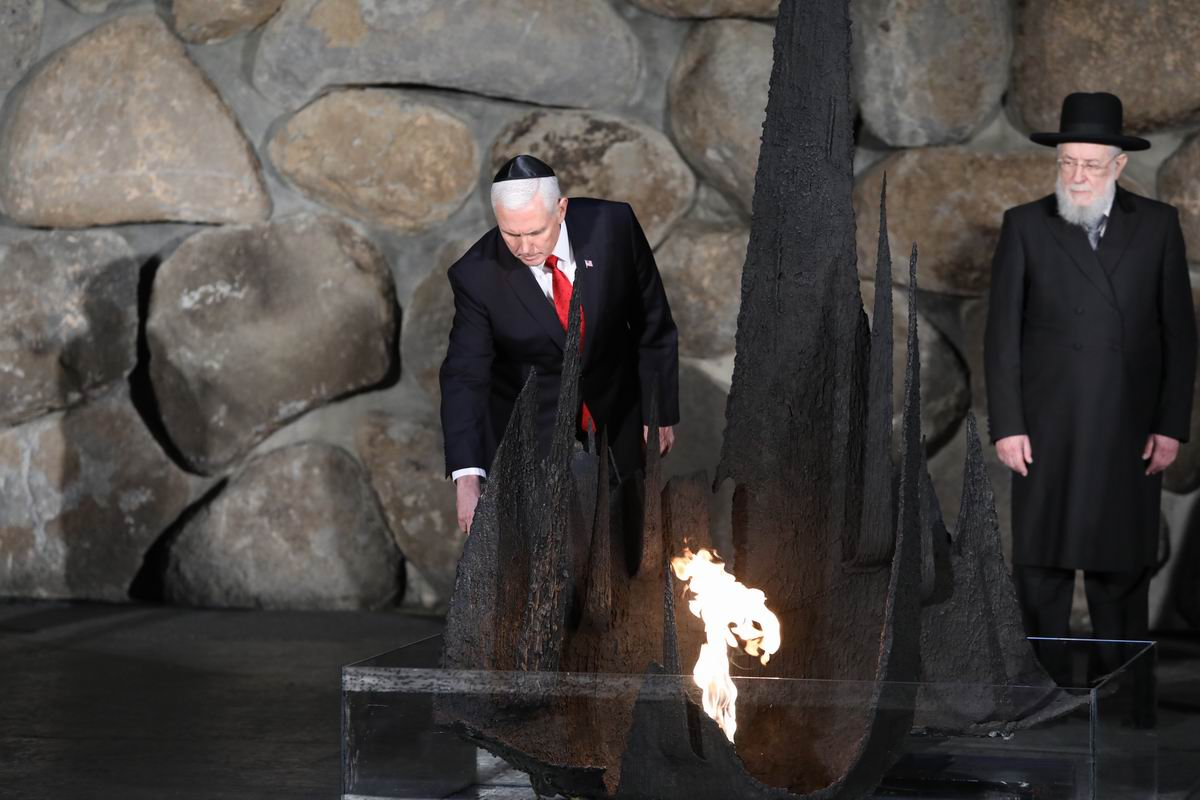 The Vice President was honored to rekindle the Eternal Flame in the Hall of Remembrance