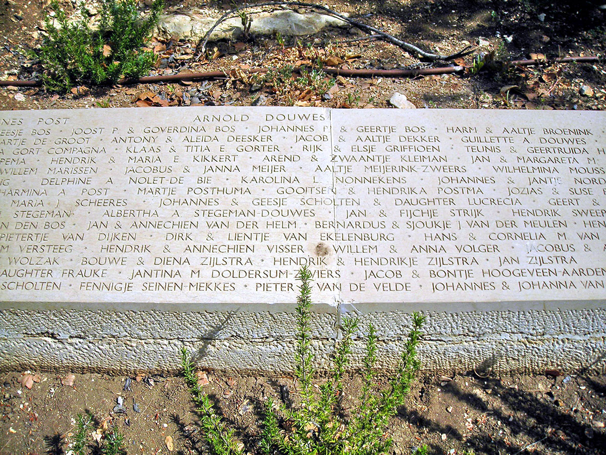 The names of the 117 inhabitants of Nieuwlande who were recognized as Righteous Among the Nations