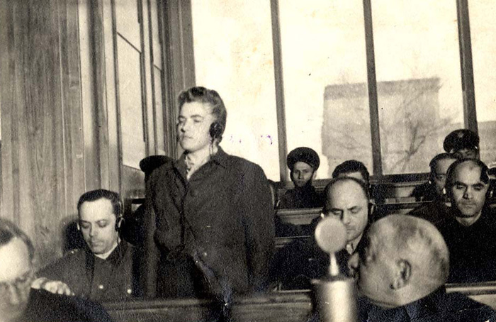 Cracow, Poland, The Auschwitz trial, Maria Mendel, a defendant from the guards' staff