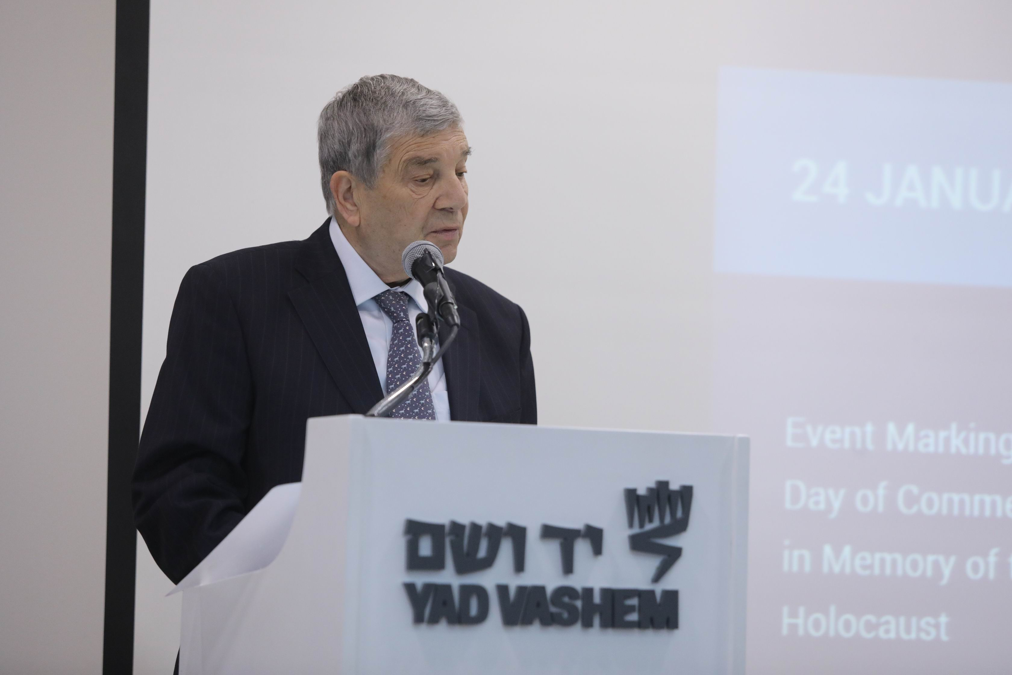 Avner Shalev reiterated the essential facts of Holocaust history
