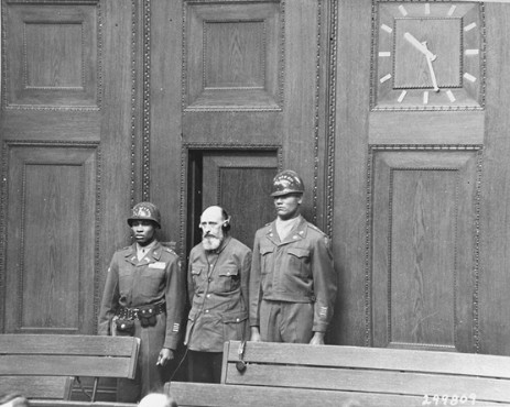 Paul Blobel, former commanding officer of Sonderkommando 4A of Einsatzgruppen 'C', is sentenced to death by hanging at the Einsatzgruppen Trial.
