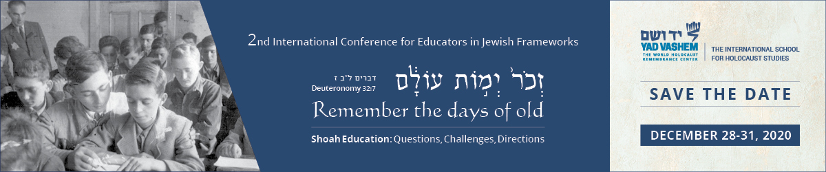 International Conference 2020 for Educators in Jewish Frameworks