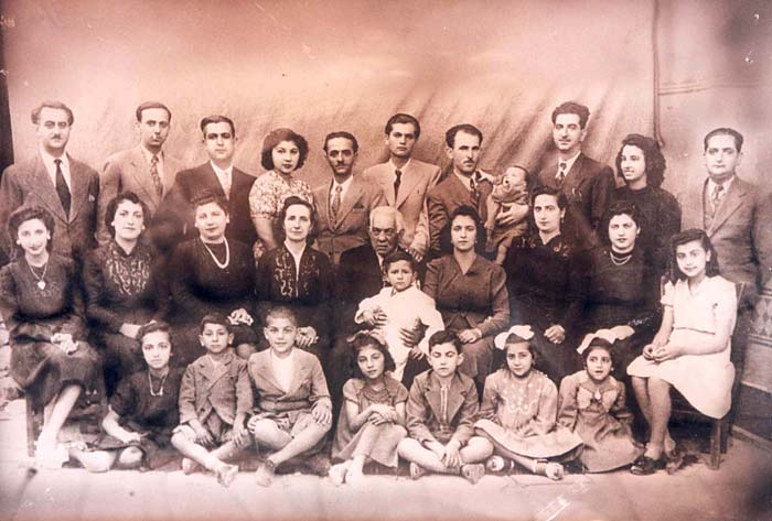 The Family of Janet Salomoni Before the Deportation of the Town's Jews to the Extermination Camps, Ioannina, Greece, June 1943