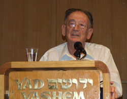 Professor Yehuda Bauer speaking at the international conference, The Holocaust, The Survivors, and the State of Israel, 8-11 December 2008