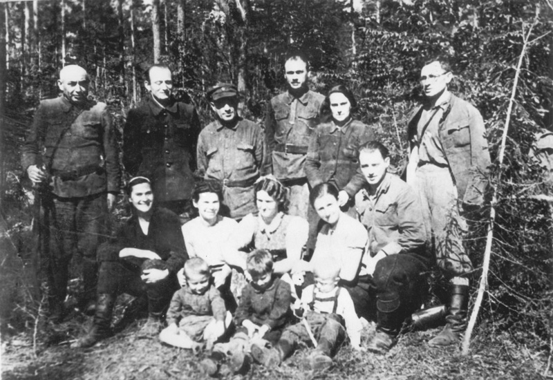 Family Camp. Yehuda Bielski, second row, seated on right