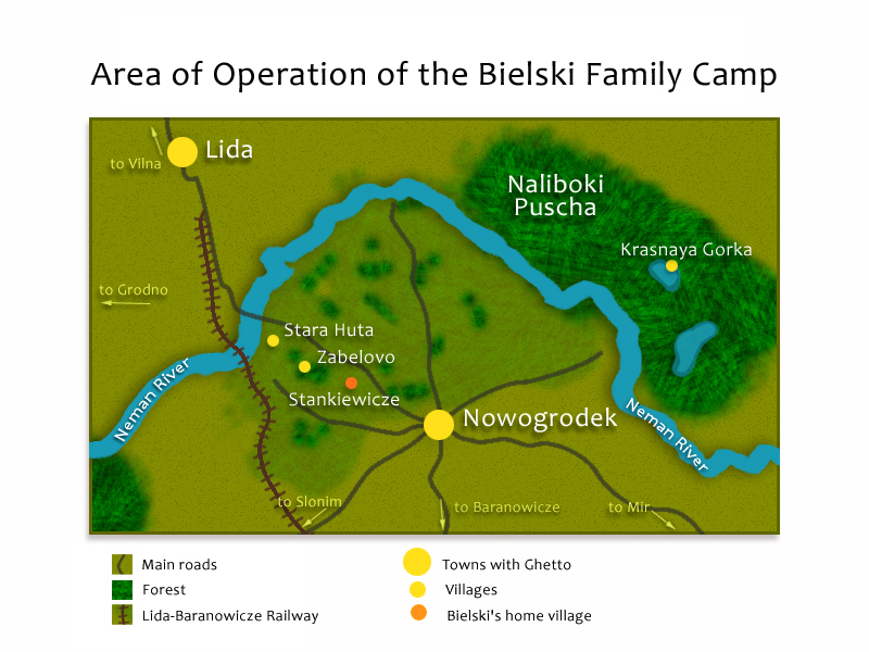 Area of Operation of the Bielski Family Camp