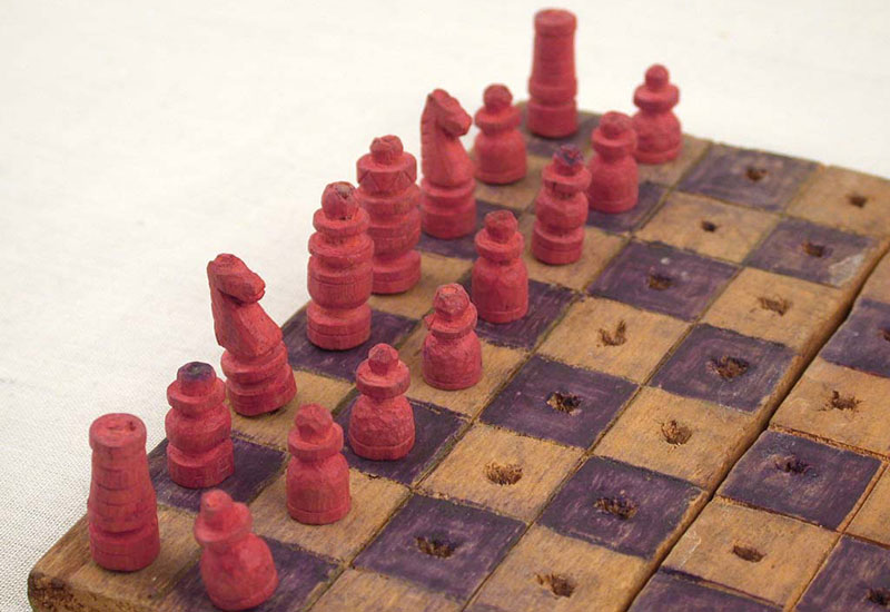 Chess Sets, a Brief Respite from a Harsh Reality