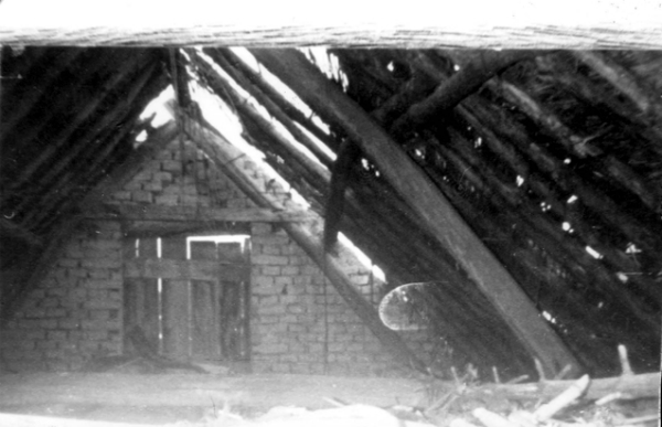 An attic used as a hiding place during the war
