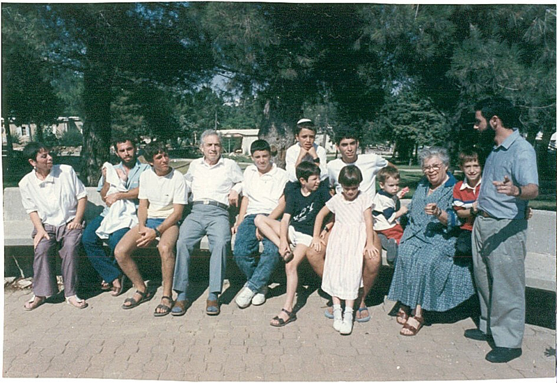 Ester with her extended family in Israel