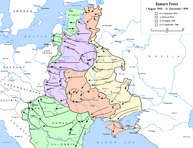 Soviet advances on the Eastern Front from 1 August 1943 to 31 December 1944, courtesy of Mahahahaneapneap