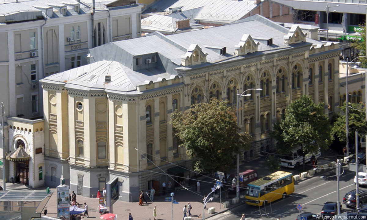 The Brodsky Choral Synagogue in Kiev, built in 1897-1898, bird's eye view. Author: Artemka