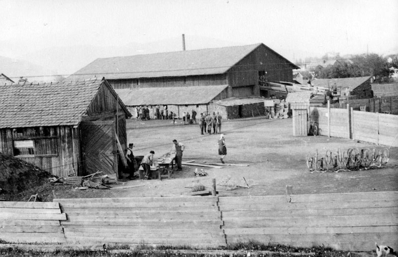 The Munkács brick factory where the Jews of the town were brought before their deportation to Auschwitz-Birkenau.
