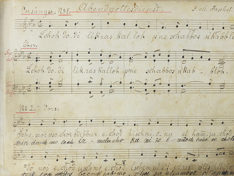 Music Book Belonging to Cantor Arthur Kohn from the Mannheim Synagogue in Germany
