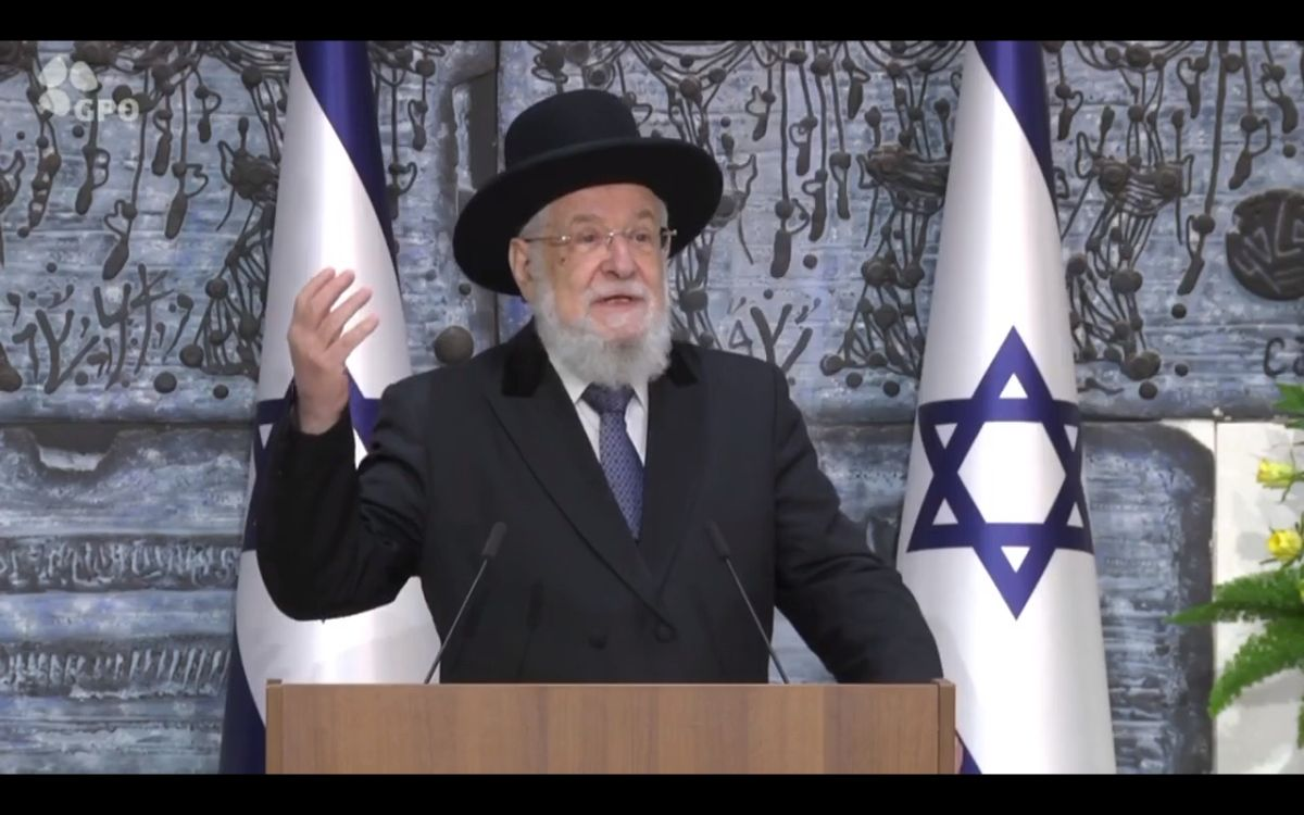 "Rabbi Israel Meir Lau: ""Kristallnacht"" shows where the destructionof sacred objects can lead"