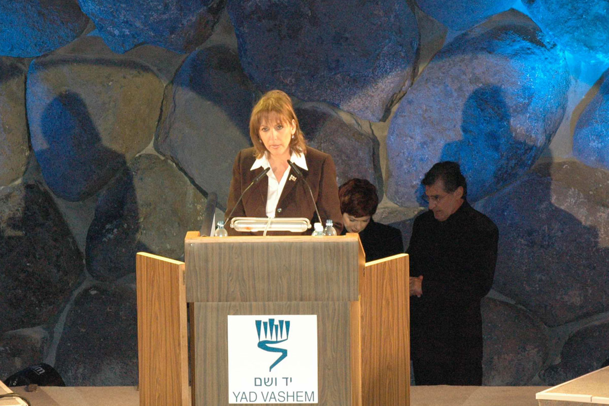 Minister of Education, Culture and Sport Limor Livnat speaks during the Inaugural Ceremony of the New Museum